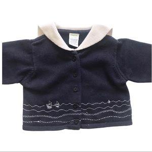 Gymboree Sailor Collar Sweater Cardigan